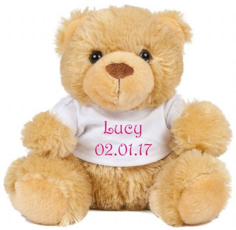 Baby Name/Date Teddy Bear